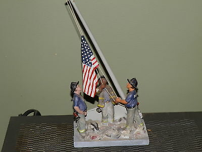 R&l Creations America Standing Strong 9/11  Firefighters Statue 2001