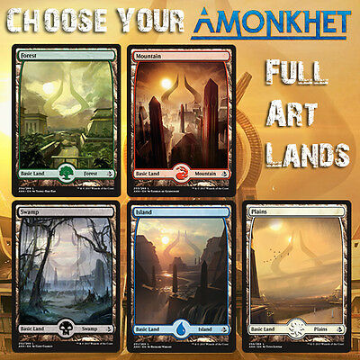 Choose Your Amonkhet AKH / HOU - Full Art Lands - MTG M/NM - Buy 2 Get 1 Free!