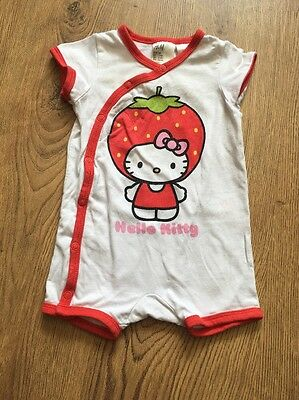 H&M Hello Kitty strawberry baby grow romper 3 months