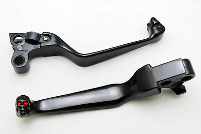 Levier noir  levers Skulls black Skulls Brake Clutch For Harley Davidson