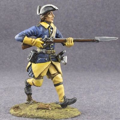 Running Swedish Musketer 1/32 Painted Action Figures Toy Tin Soldier 54mm