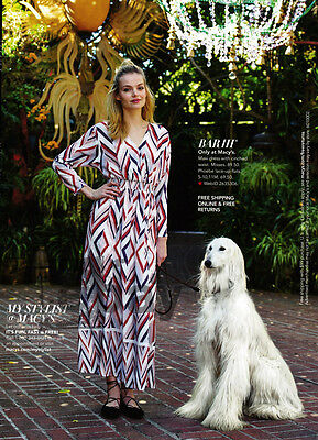 Macy's 4-pg clipping ad 2016 pose with Afghan Hound - dog