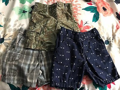 Three Pairs Carter's Toddler Boys Shorts 12 Month  Old Navy