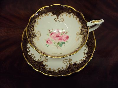 Vintage Pink Rose Royal Stafford Tea Cup & Saucer