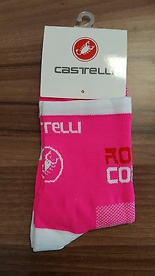 Pink Castelli Rosso Cycling Socks Size 7-13