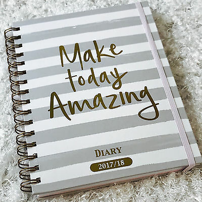 Daily Weekly Planner-18 Months Hard Cover Aug 2017-Jan 2019  Make Today Amazing