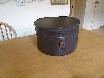 Vintage Early 20Th Century  Hat Box - Rexine Covered - Mono. S.p.