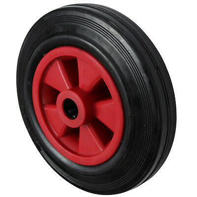 200MM Black Rubber Tyre with Red Plastic Centre Sack Truck Wheel