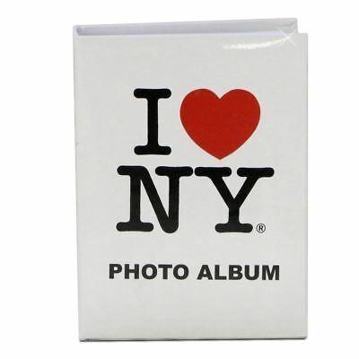 I Love NY Photo Album Book (White) - New York City Souvenir Collectible Gift