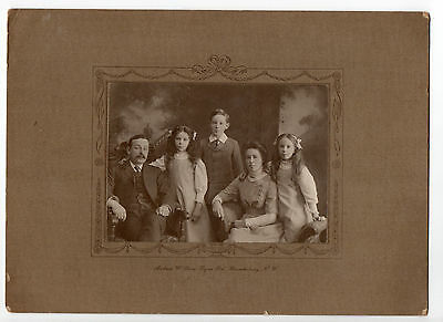 Family Portrait Photograph Original Antique