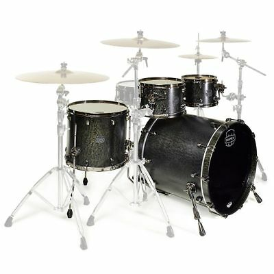 Mapex Saturn V 4-Piece 22 inch MH Exotic Rock Shell Pack - Flat Black Maple Burl