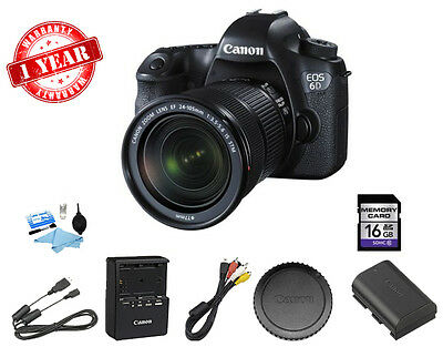 Canon EOS 6D DSLR Camera with EF 24-105mm f/3.5-5.6 IS STM Lens w/16GB Card