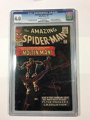 The Amazing Spider-Man 28 CGC 4.0 1st Molten Man