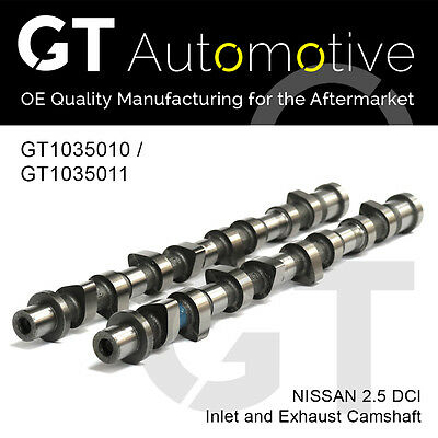 CAMSHAFT SET FOR NISSAN INLET & EXHAUST 2.5 DCI YD25DDTi 13020AD202 & 13020AD212