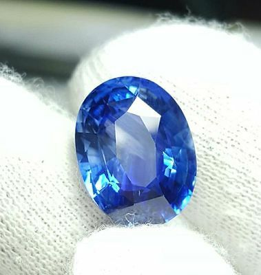 Certified 6.83 Cts Natural Beautiful Oval Mixed Royal Blue Sapphire Sri Lanka