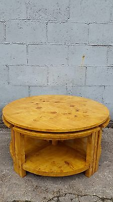 Stunning, Walnut, Art Deco Coffee Table, Nest, Rare, Antique, Vintage