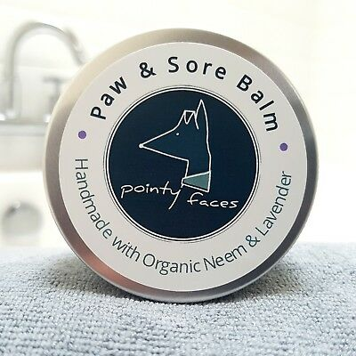 Dog Paw Balm Organic Neem & Lavender. Soothes Dry Cracked Itchy Paws & Skin. 60g