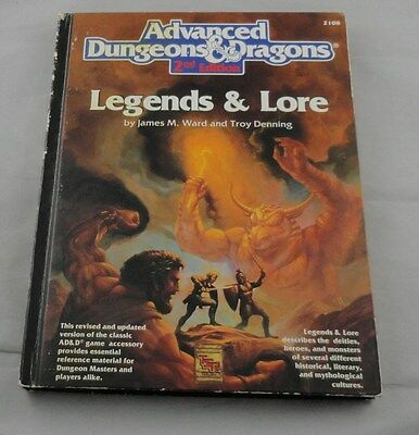 Advanced Dungeons and Dragons 2nd Ed: Legends & Lore TSR2108 AD&D