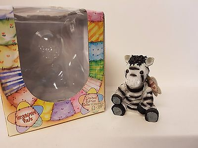 Stripes Zebra #5069 Treasured Pals Limited Edition Collectable Boxed
