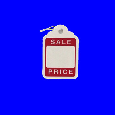 46mm x 30mm Sale Strung String Kraft Tags Swing Price Tickets Tie On Labels