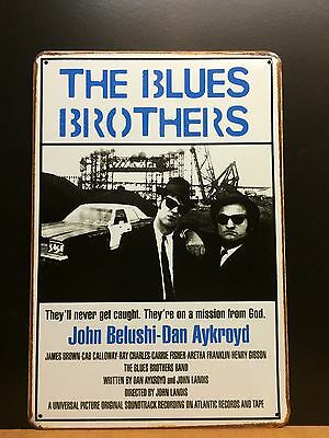 THE BLUES BROTHERS-John Belushi-Dan Aykroyd,Classic Movie Poster,SmallMetal Sign