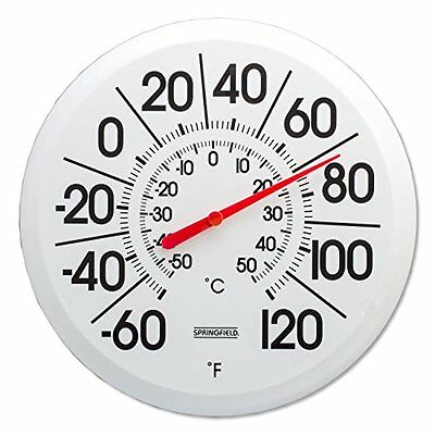 New Outdoor Thermometer Large Dial Weather Temperature Patio Wall Garden Decor