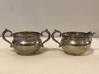 Gorham Sterling Silver 848-849 Cream And Sugar Bowl 176G Sterling Silver .925