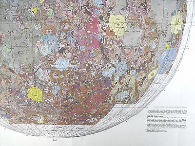 APOLLO 1970 Moon Map GEOLOGIC MAP OF THE NEAR SIDE OF THE MOON So Cool Looking!