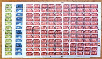 GB 1970 Commonwealth Games (3) Complete Folded Sheets of 100 NB1483