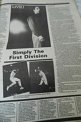 "JOY DIVISION ""GIG REVIEW"" simply the first division  1980 COMES ON A FULL PAGE"