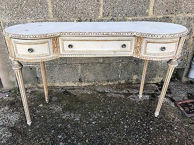 Antique, French, Vintage Dressing Table, Original Paint