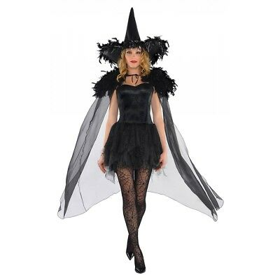 Feather Witch Cape Costume Accessory Adult Halloween