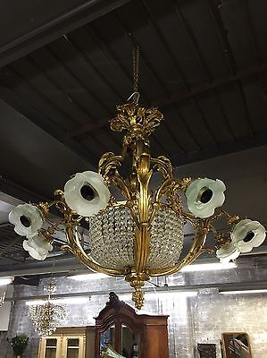 Stunning, Matching Pair, French Style, Antique, Vintage, Crystal Chandeliers