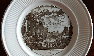 Wedgwood PIRANESI PLATES Dinner Plate-Side View of the Trevi Fountain