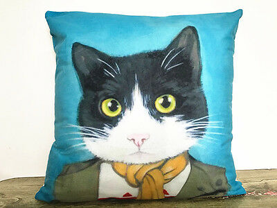 1x Simple painting Cartoon cat Home Decor sofa Cushion Covers Pillow Case 18X18'