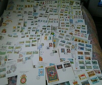60+ Isle of Man  FIRST DAY covers 1970s 1980s