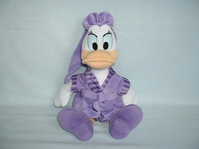DONALD DUCK DAISY DUCK Cuddly Soft Plush Toy In Dressing Gown (WALT DISNEY)