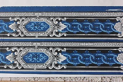 """Rare 18thC French """"Domino"""" Paper Block Printed-Hand Painted-Stenciled"""