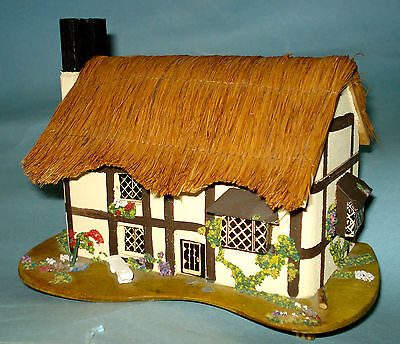 VTG Reuge Music Box Cotswold English Cottage Pauline Ralph Trinket Jewelry Box