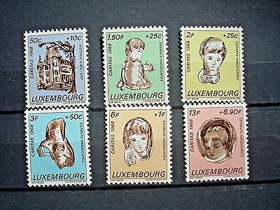 Luxembourg 1968 Nat Welfare Fund Set 6 Mnh Sg829/34