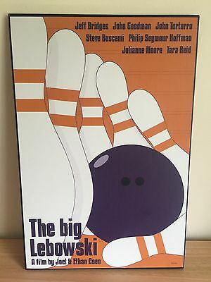 Rare The Big Lebowski Film Poster Wooden Wall Plaque Coen Brothers - Man Cave