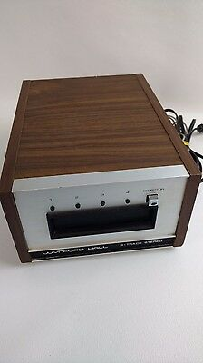 Vintage Wynford Hall 8 Track Stereo Player Fully Tested Working Wood Casing