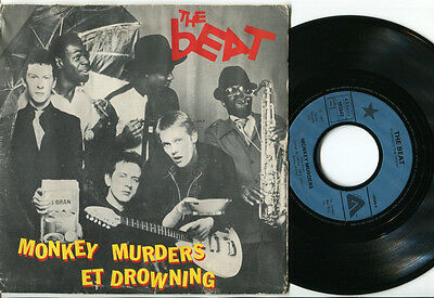 BEAT - Monkey Murders / Drowning 45 1981 TWO TONE SKA. 1981 FRENCH PS