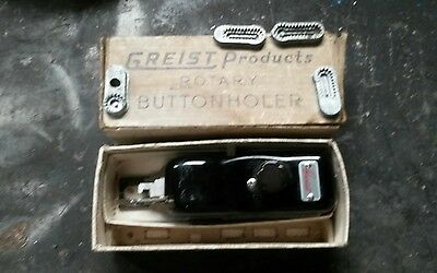 1950s Greist Rotary Buttonholer – Vintage Sewing Machine Attachment - Boxed