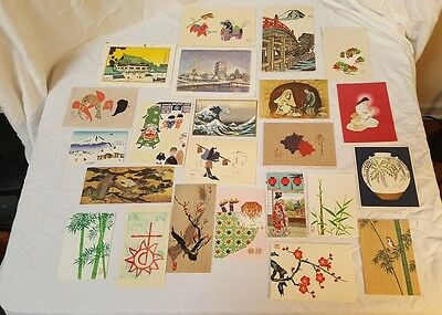 Japanese Woodblock Postcard ~ Japanese Postcard Lot Various Collectors Lot