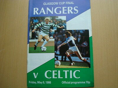 RANGERS V CELTIC MAY 1986 (Glasgow Cup Final)