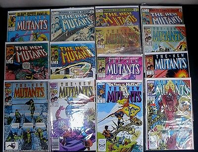 The New Mutants Lot Of 14 Comics Marvel Mid-High Grades #3-85
