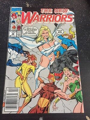 New Warriors#10 Awesome Condition 8.0(1991) White Queen, Hellions App!!