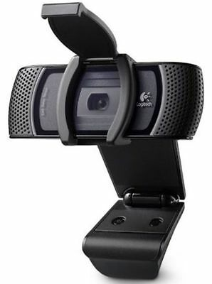 Logitech B910 HD 1080P Carl Zeiss Tessar USB Webcam With Microphone & Clip On