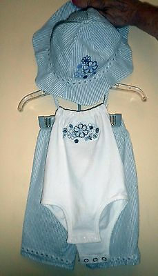 Koala Baby Infant 3 Piece Blue/White Set - Bodysuit, Pants and Hat- 18 Months